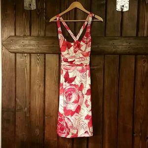 David Meister floral dress